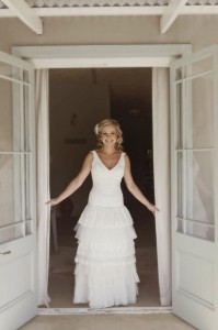 Elmarie Viljoen's dress by Alana van Heerden Wedding Gowns
