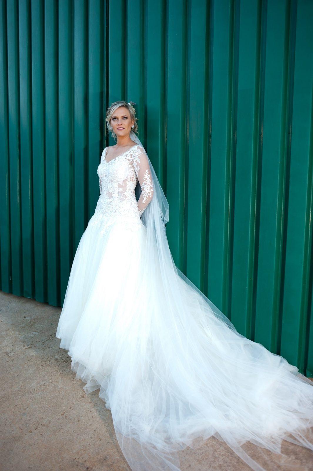 Stephanie van Niekerk's Wedding Dress designed by Alana van Heerden Wedding Gowns